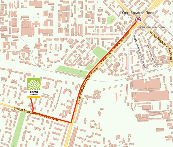 Схема проезда в учебный центр ГИСпроект