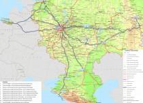 Карта маршрутов ЧМ по футболу 2018 (общая)